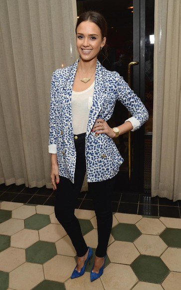 jessica alba coat blazer anthropologie
