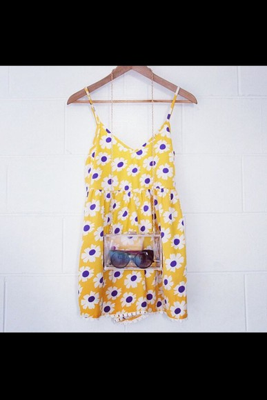 dress yellow dress yellow floral