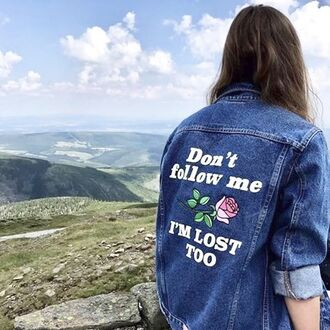 jacket yeah bunny denim retro vintage dont follow me imosttoo 36683 denim jacket