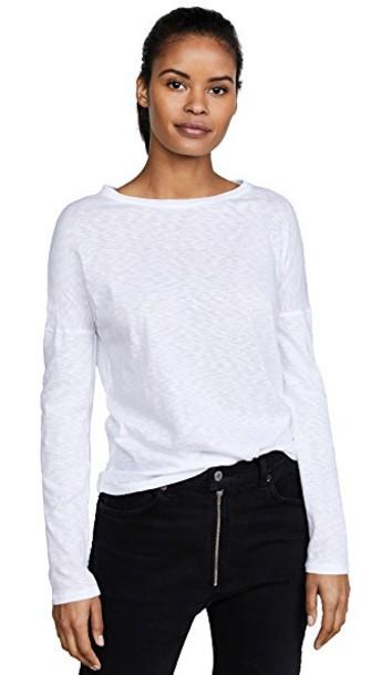 long cotton white top