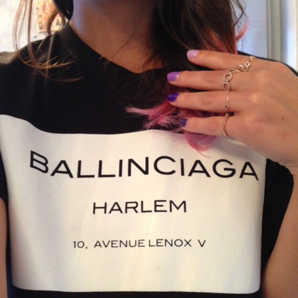 Ballinciaga Harlem Printed T-shirt (2 colors available) – Glamzelle
