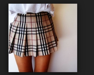 skirt tartan plaid skirt beige brown tennis skirt