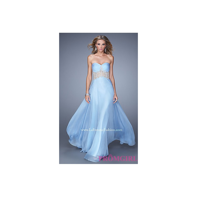 LF-21022 - Strapless Sweetheart Floor Length La Femme Dress - Bonny Evening Dresses Online