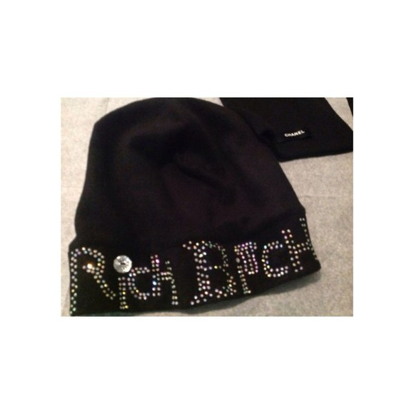 hat silver black beanie black hat felt hat diamonds rhinestones beautiful sequins winter hat tumblr girl tumblr sexy summer
