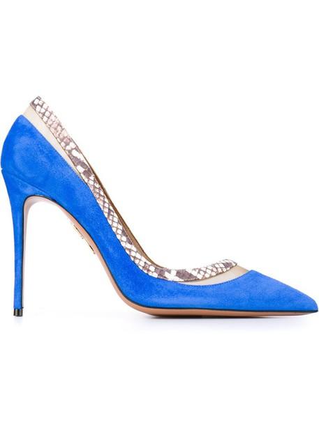 women python pumps leather blue suede shoes