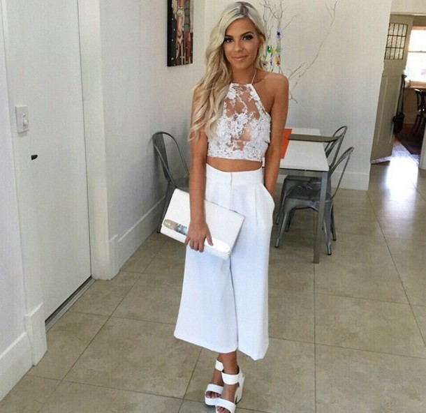 top lace top halter top