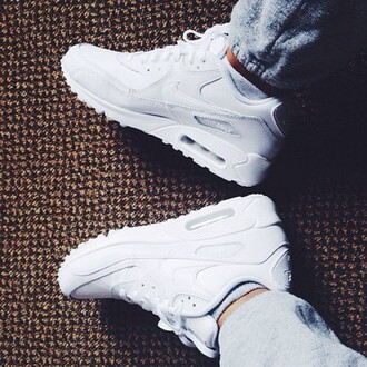 shoes jeans nike air max 90s style white cocaine nike air