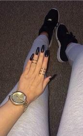 shoes,jewels,leggings,?lac?,w???e,ad?da?,grey,legg?ng?