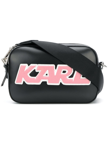 karl lagerfeld women sporty bag leather black