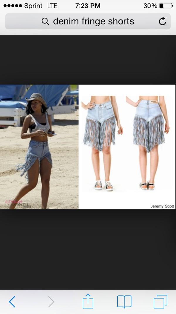 long fringe shorts