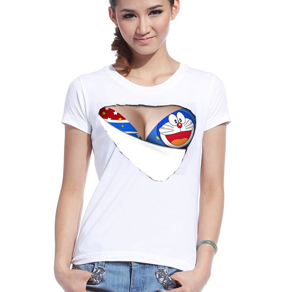 Buy hot summer ladies short sleeved for How to get foundation out of a white shirt