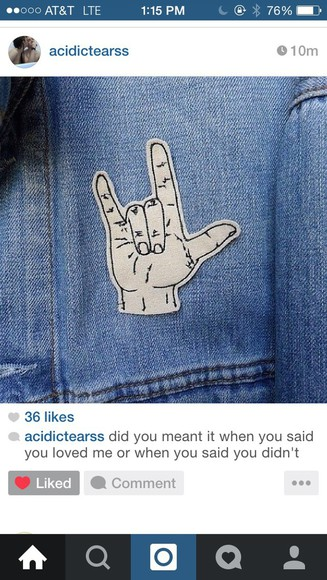 jacket denim jacket denim patches patch pocket tumblr cute blue