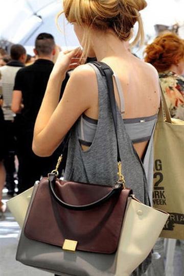 Color Block Bat Wings Handbag In Coffee [FPB635]- US$ 57.99 - PersunMall.com