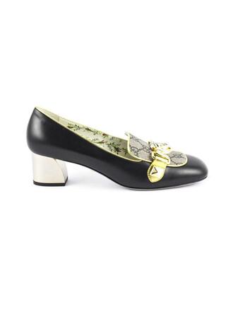 heel leather black black leather shoes