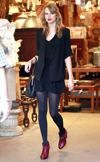 dress taylor swift dress jacket black black blazer shoes taylor swift