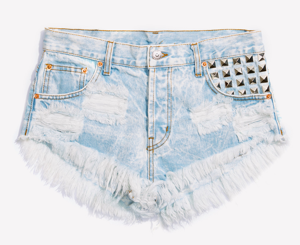 Alexx Stoner Studded Babe Shorts | RUNWAYDREAMZ