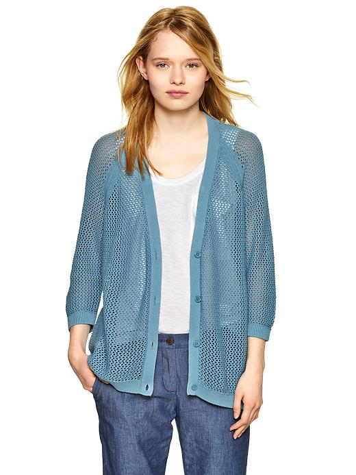gap mesh stitch cardigan - brook