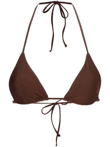 MATTEAU bikini bikini top triangle bikini triangle women spandex brown swimwear