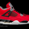 Nike air jordan 4 iv retro toro bravo size 9 5 fire red white black cement grey | ebay