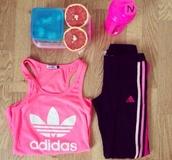 tank top,pink,adidas,top