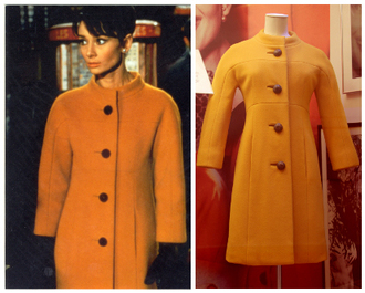 coat yellow audrey hepburn