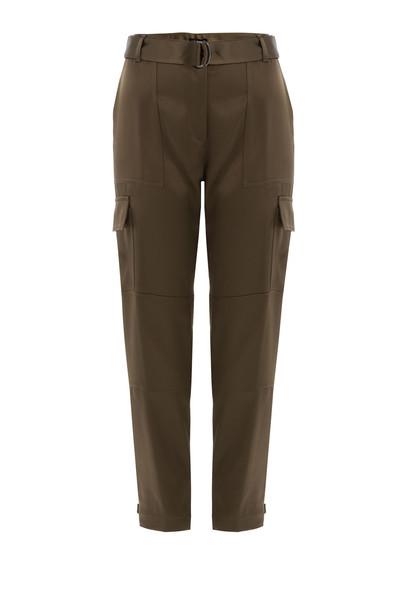 pants cargo pants satin green