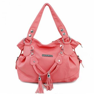 bag tassel pink sexy cool stylish cute girly trendy fashion fashionista classic love party leather leather bag style shoulder bag salmon gorgeous beautiful