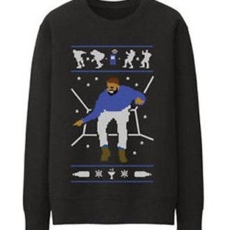 sweater drake ugly christmas sweater hotline bling black sweater