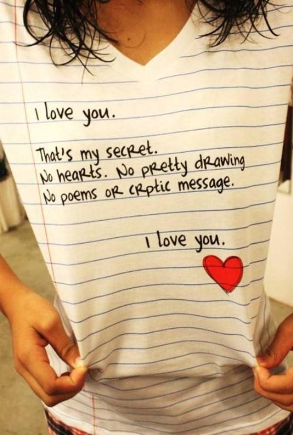 t-shirt i love you women tshirts heart
