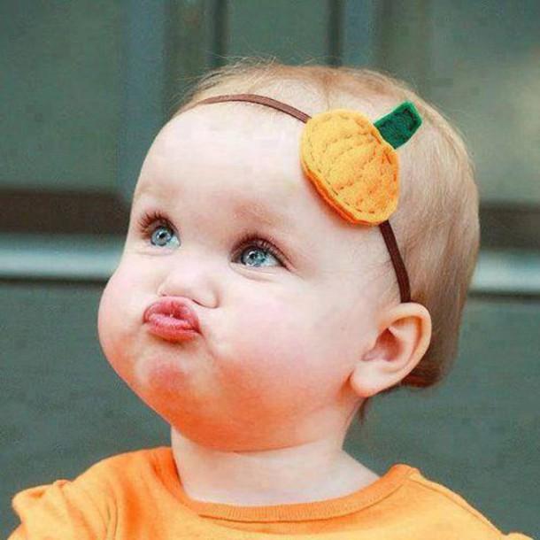 Hair Accessory Bow Halloween Baby Cute Costume Pumpkin Kiss Bebe Pretty Girl Kids Fashion Thanksgiving
