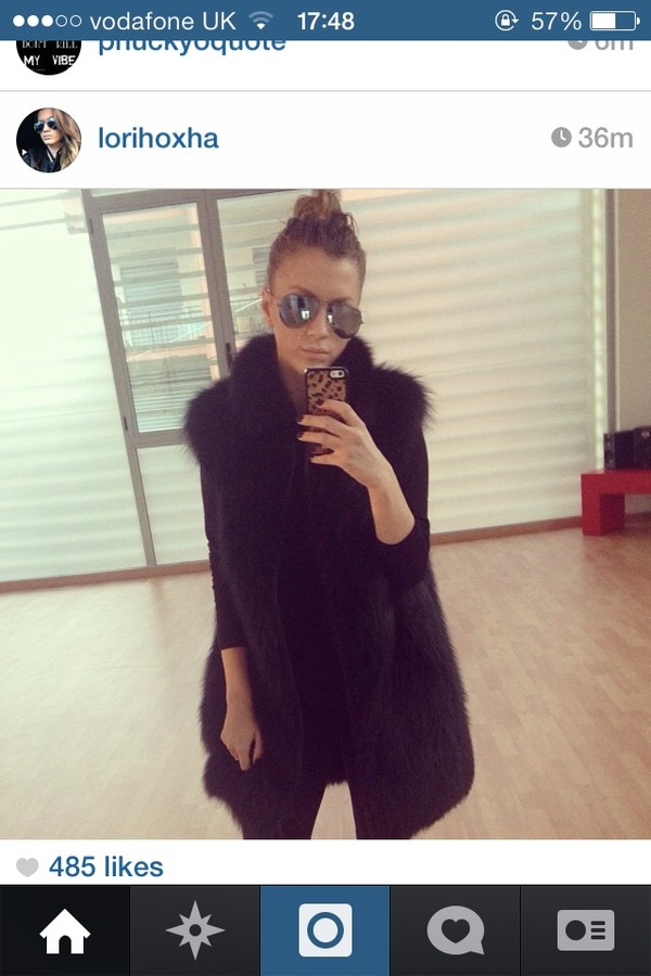 coat fur faux fur jacket fashion black