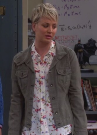jacket kaley cuoco blouse big bang theory