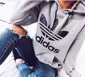 sweater,adidas,oversized sweater,adidas sweater,grey sweater,hoodie,adidas originals,coat,grey hoodie,jacket,cute,style,stylish,tumblr,tumblr outfit