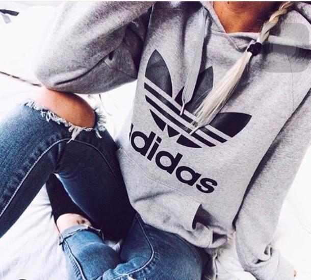 3247dd257474 sweater adidas oversized sweater adidas sweater grey sweater hoodie adidas  originals coat grey hoodie jacket cute