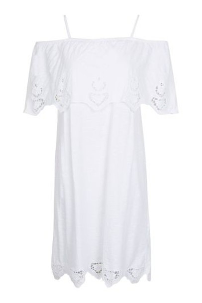 dress bardot dress white