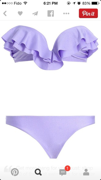 swimwear bikini bikini top purple bikini light purple strapless bikini sweetheart neckline