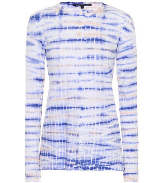 Proenza Schouler top cotton blue