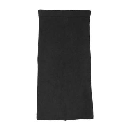 Angora Midi Skirt with Back Slit
