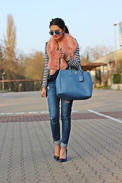 fashionhippieloves jacket jeans scarf blouse jewels shoes bag sunglasses