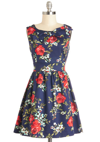 The Pennsylvania Polka Dress in Floral | Mod Retro Vintage Dresses | ModCloth.com