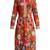 Floral patchwork-print silk crepe de Chine dress