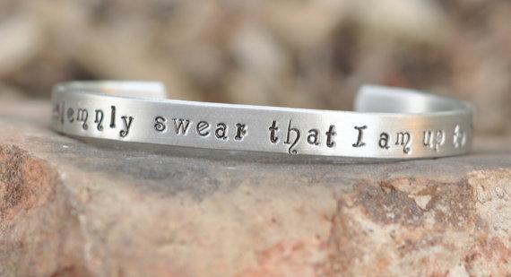 Hand stamped harry potter inspired bracelet  i by brandedheart
