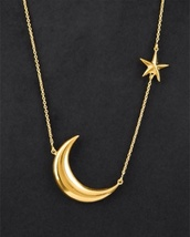 jewels,necklace,gold,moon,stars,chain,long necklace,sun