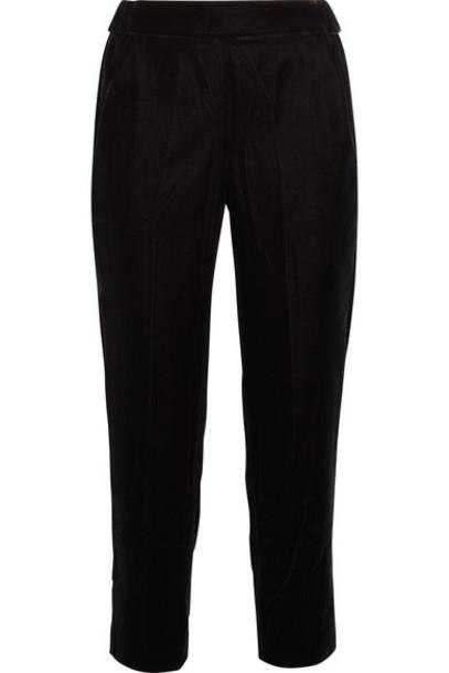 J.Crew pants cropped black velvet