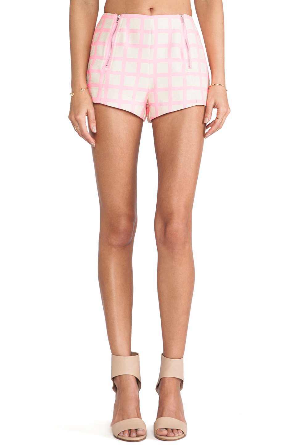 Joa shorts pink checked en neon pink