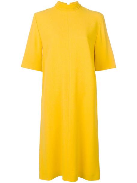 dress women spandex yellow orange