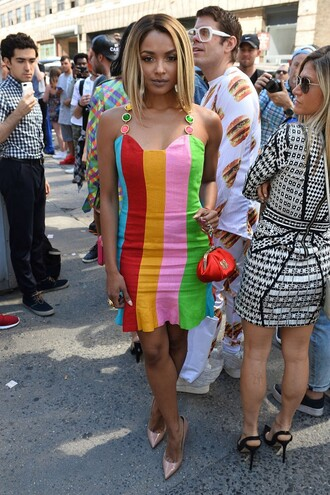 dress colorful kat graham pumps summer dress fashion week
