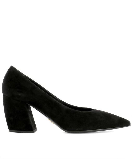 Prada suede black shoes