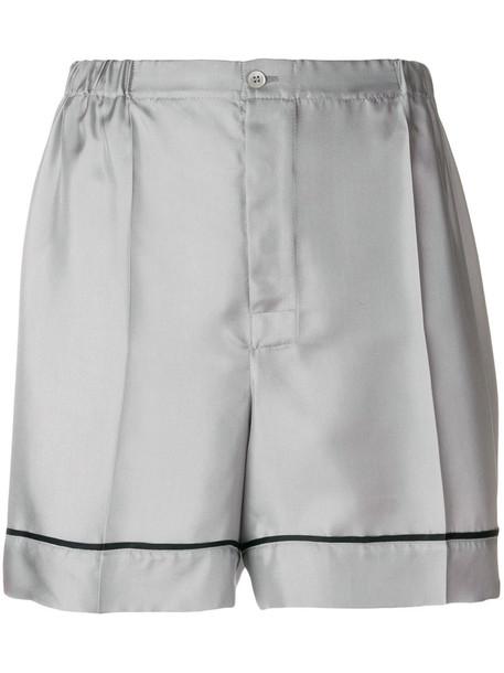 shorts women silk grey