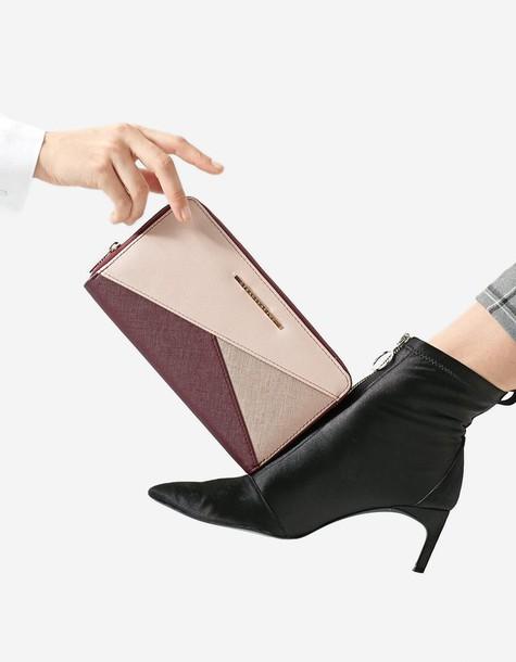 Stradivarius patchwork purse purple bag